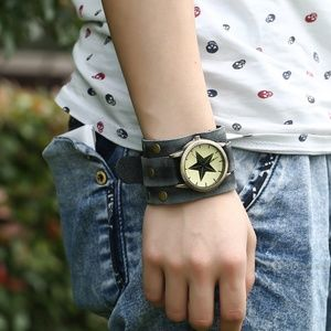 Accessories - Punk Style Vintage Leather Mens Watch